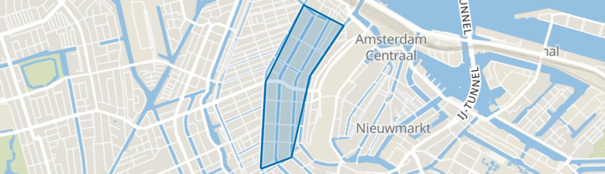 Grachtengordel-West, Amsterdam map