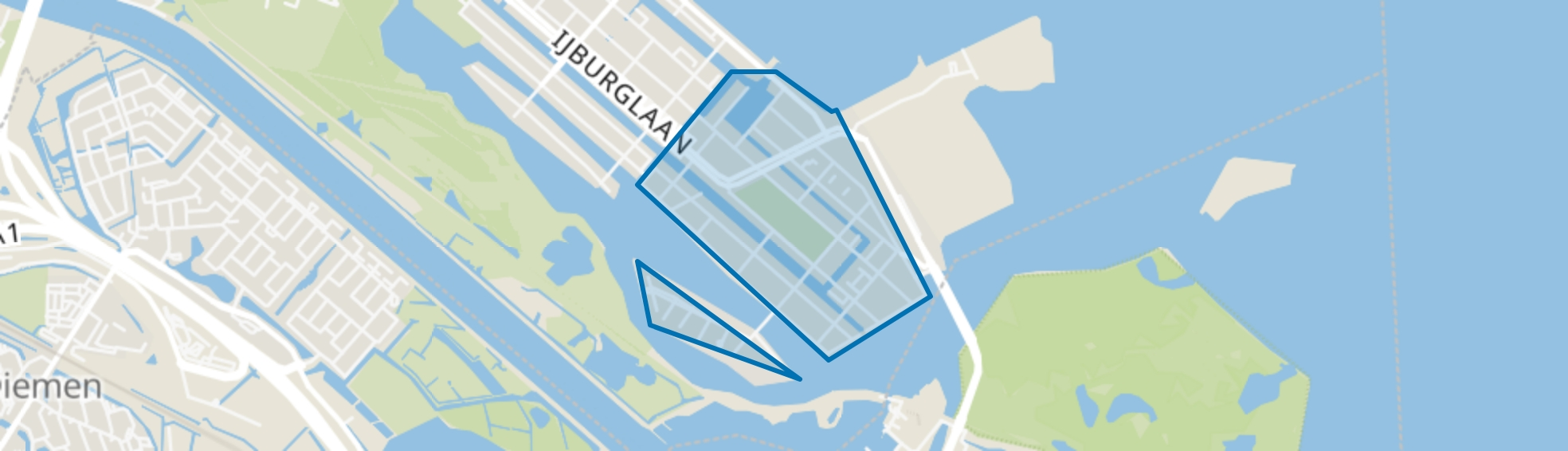IJburg Zuid, Amsterdam map