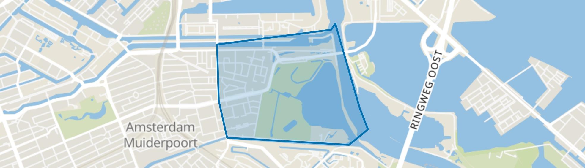 Indische Buurt Oost, Amsterdam map