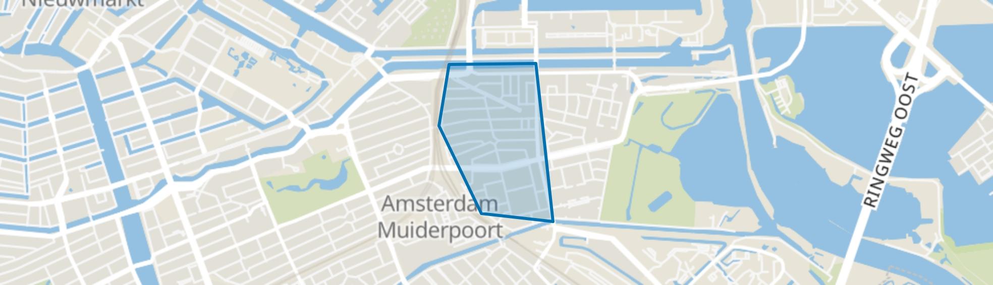 Indische Buurt West, Amsterdam map