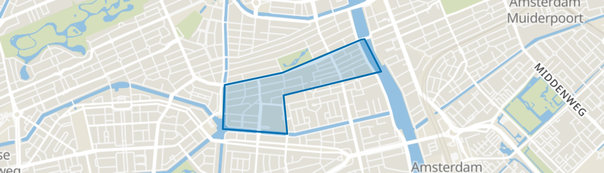 Nieuwe Pijp, Amsterdam map