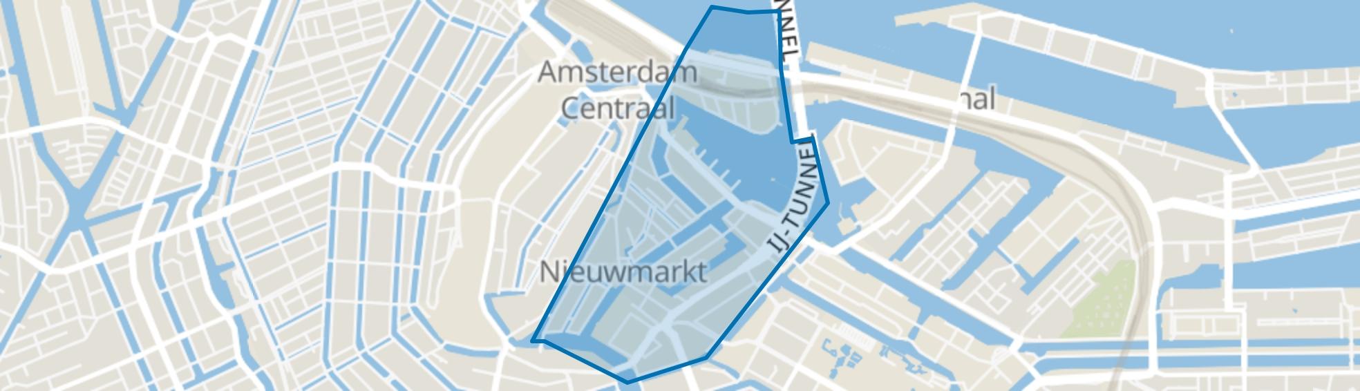 Nieuwmarkt/Lastage, Amsterdam map