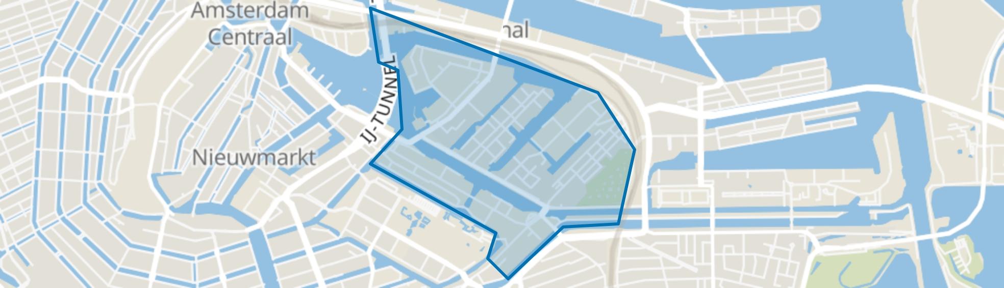 Oostelijke Eilanden/Kadijken, Amsterdam map