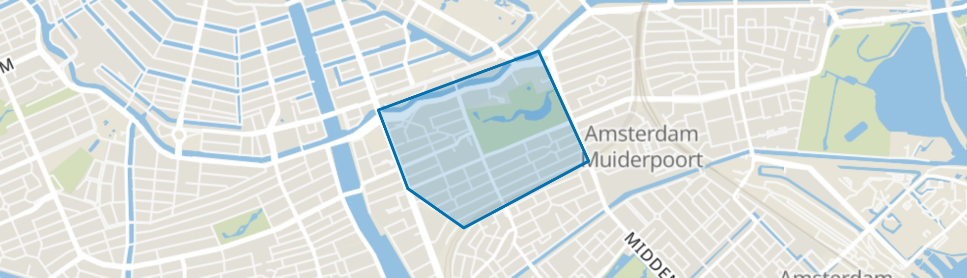 Oosterparkbuurt, Amsterdam map