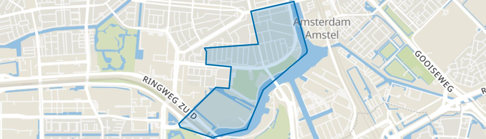 Rijnbuurt, Amsterdam map