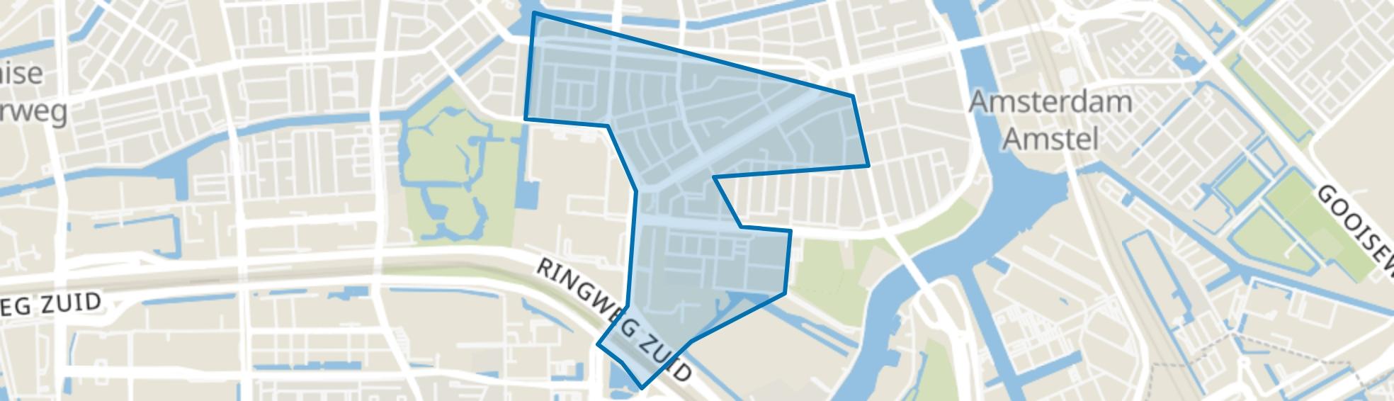 Scheldebuurt, Amsterdam map