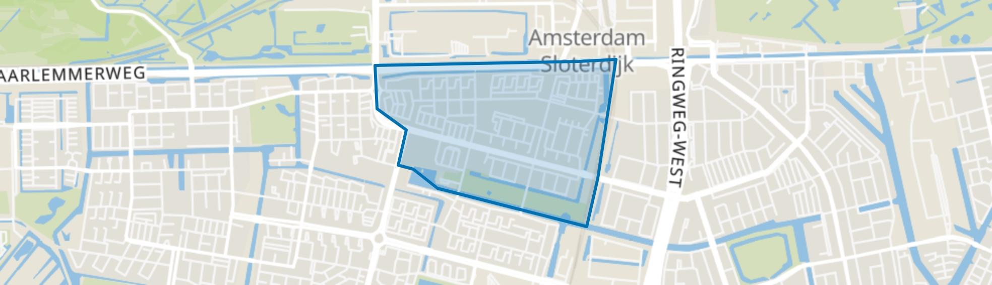 Slotermeer-Noordoost, Amsterdam map