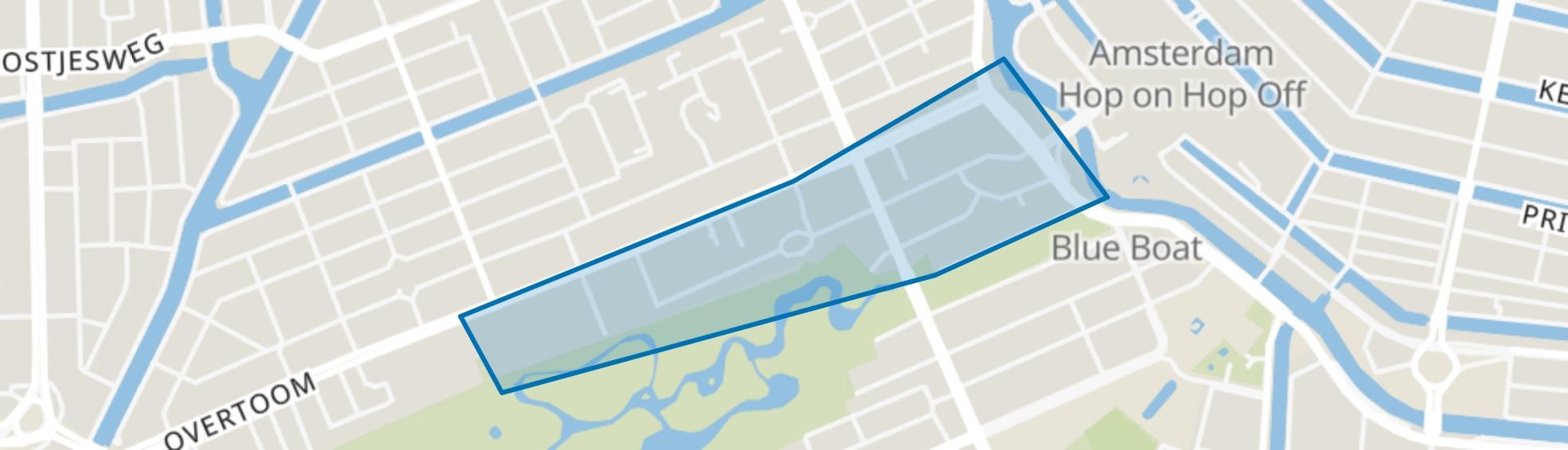 Vondelbuurt, Amsterdam map