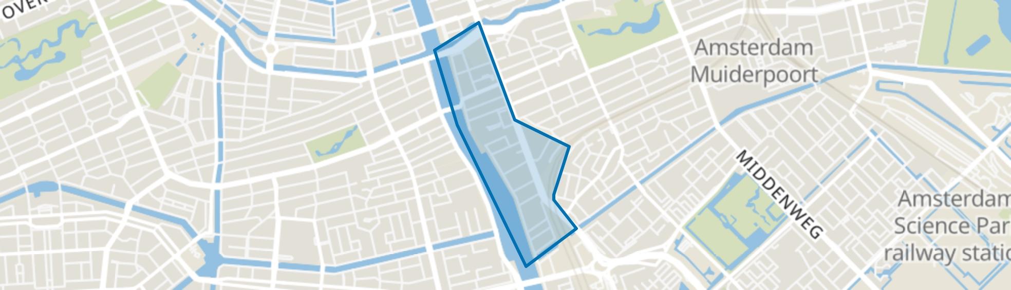 Weesperzijde, Amsterdam map