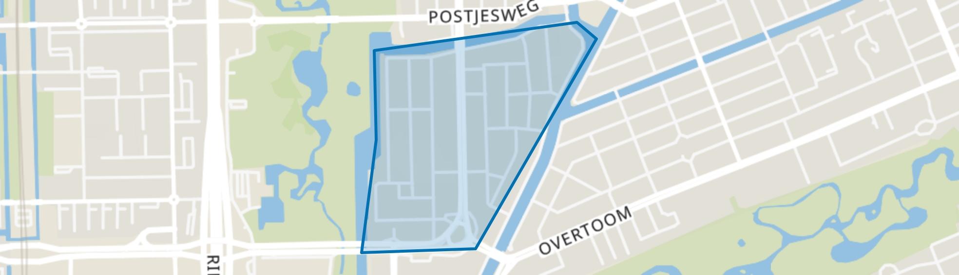 Westindische Buurt, Amsterdam map