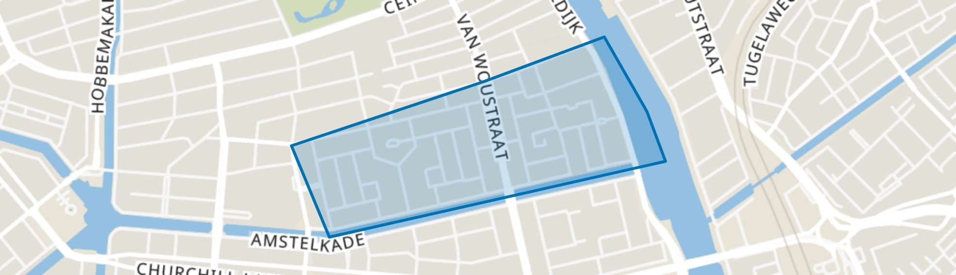 Zuid Pijp, Amsterdam map