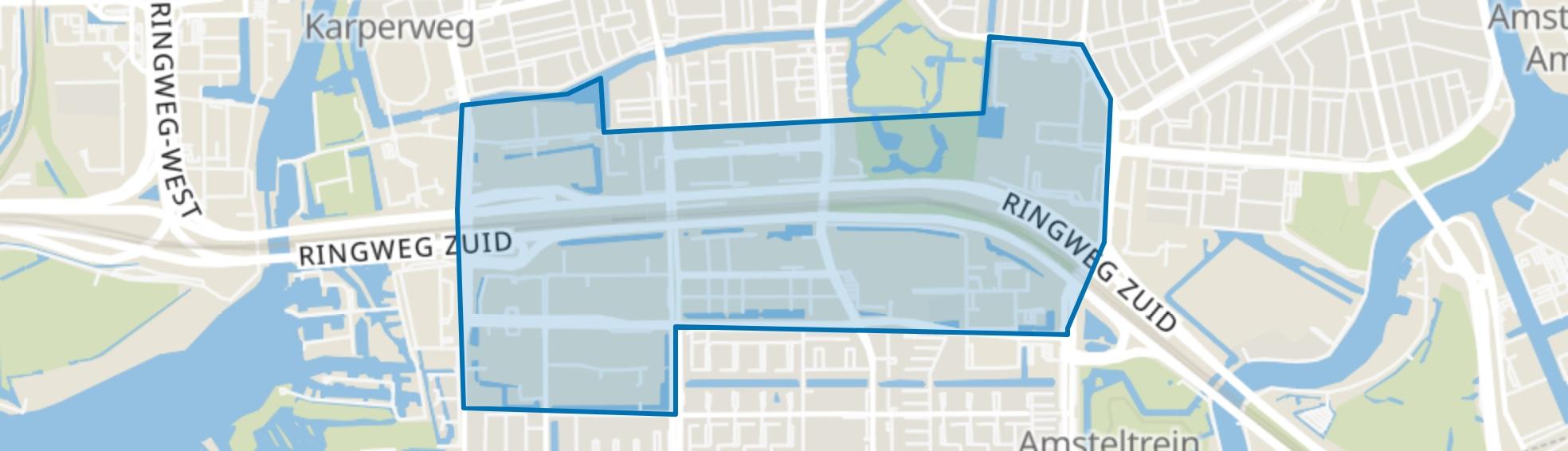 Zuidas, Amsterdam map