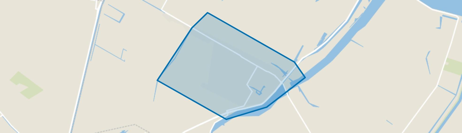 Kleine Sluis inclusief Spoorbuurt, Anna Paulowna map