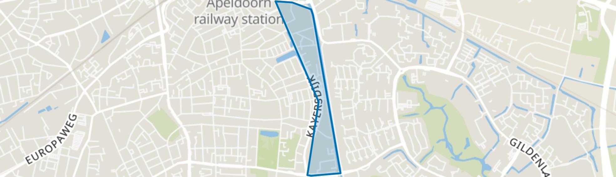 Kayersmolen-Noord, Apeldoorn map