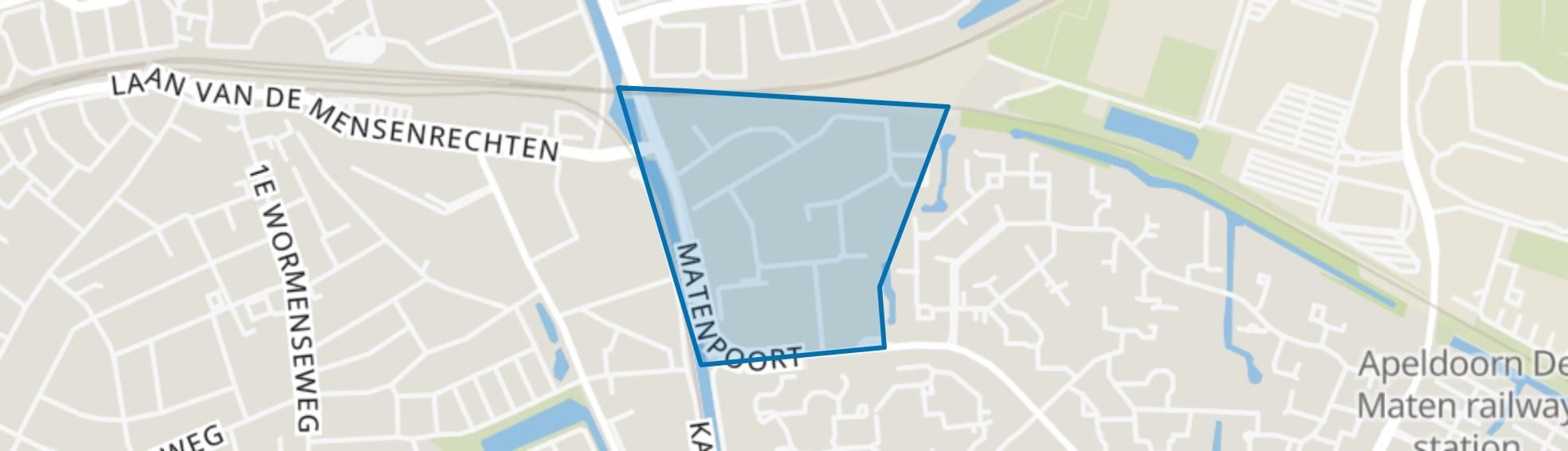 Matenhoek, Apeldoorn map