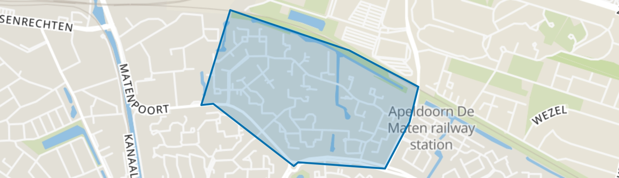 Matenhorst, Apeldoorn map