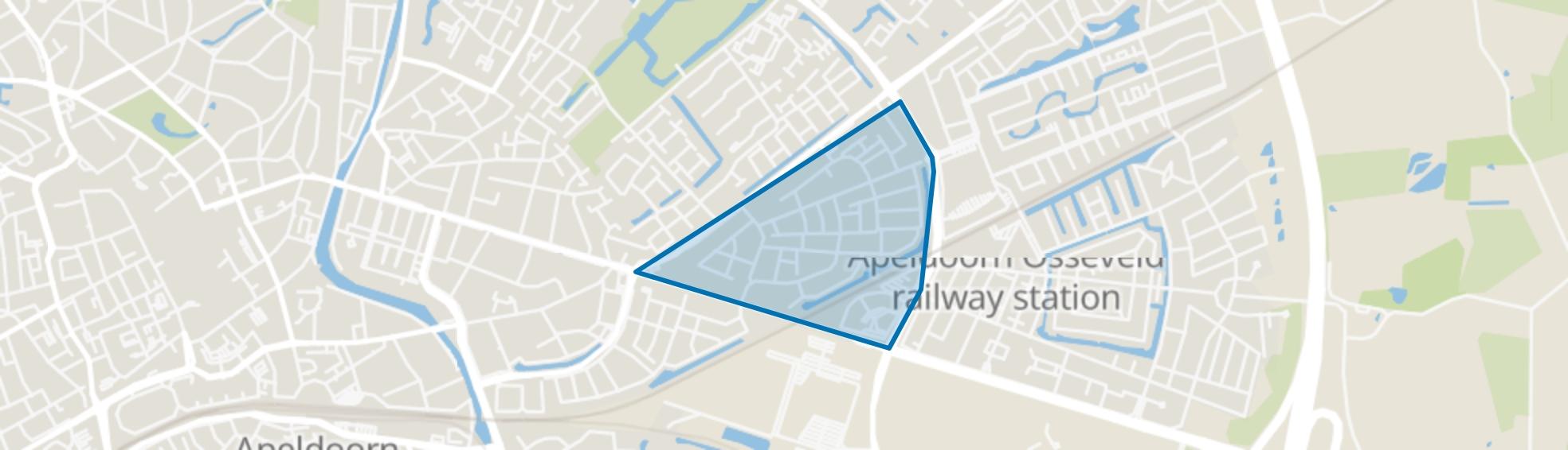 Osseveld-West, Apeldoorn map