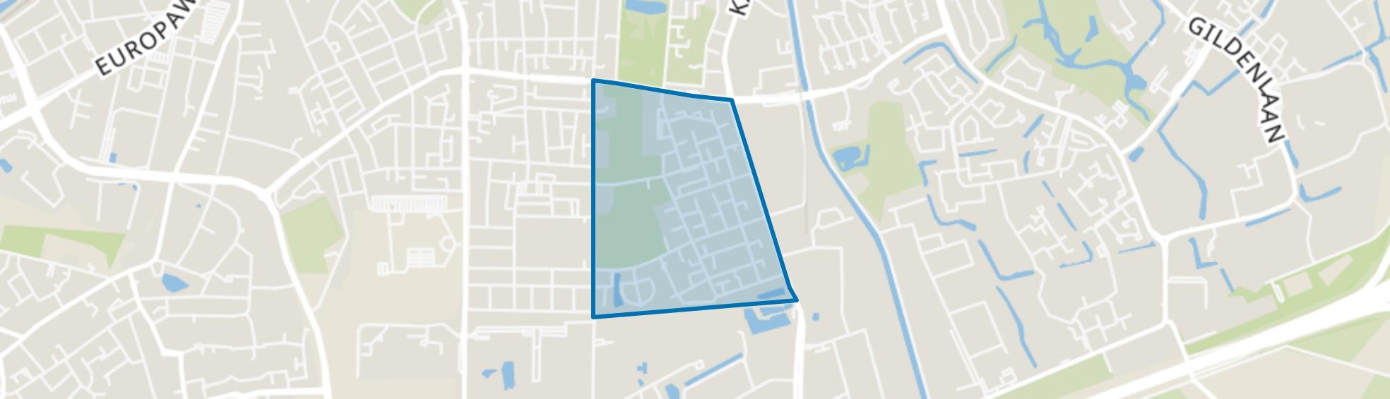 Rivierenkwartier, Apeldoorn map