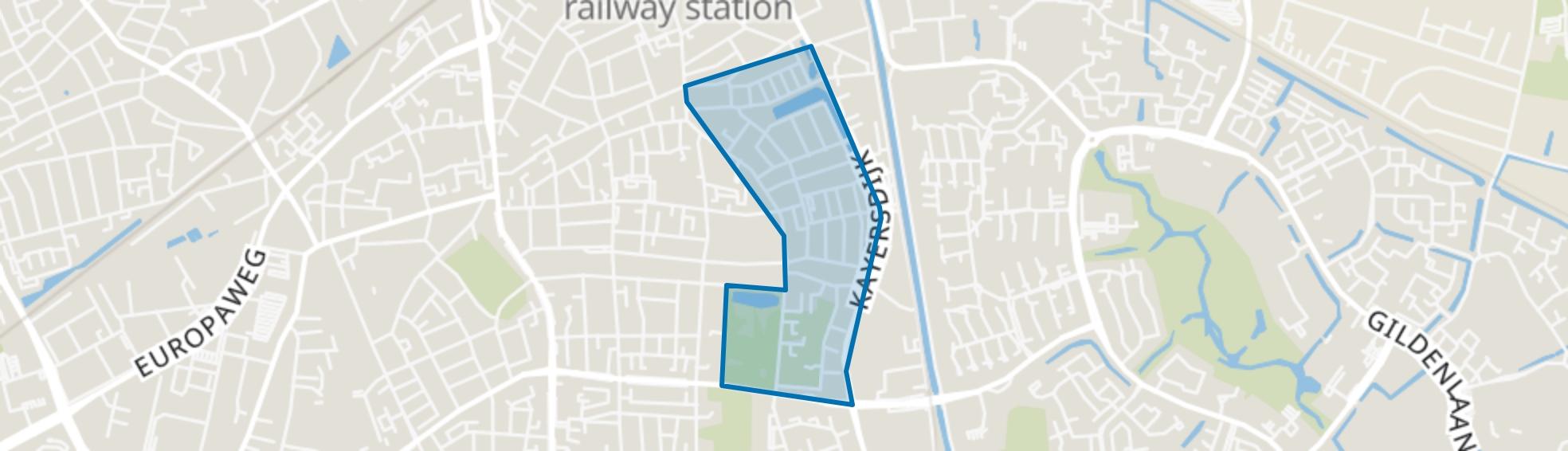 Staatsliedenkwartier, Apeldoorn map