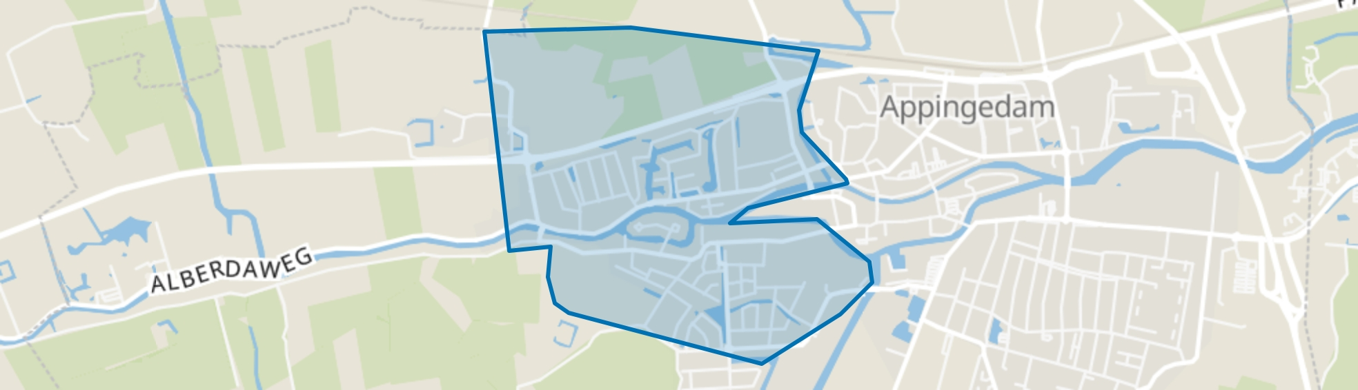 Appingedam-West, Appingedam map