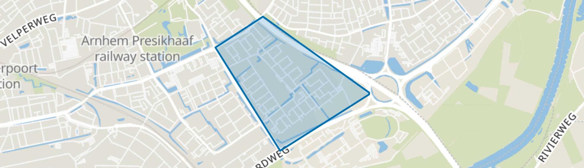 Over het Lange Water, Arnhem map