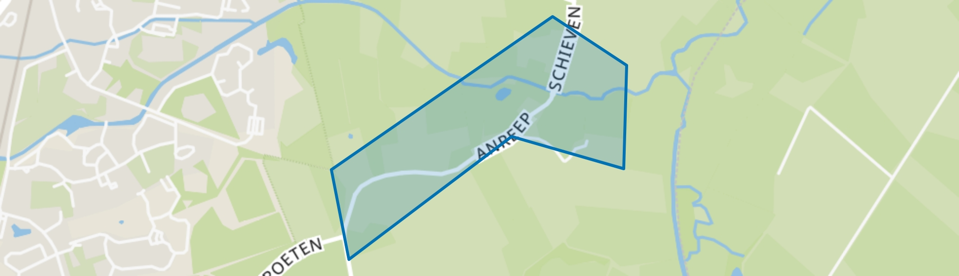 Anreep/Schieven, Assen map