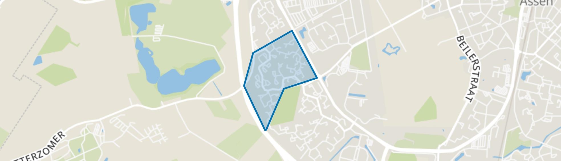 Baggelhuizen Midden, Assen map