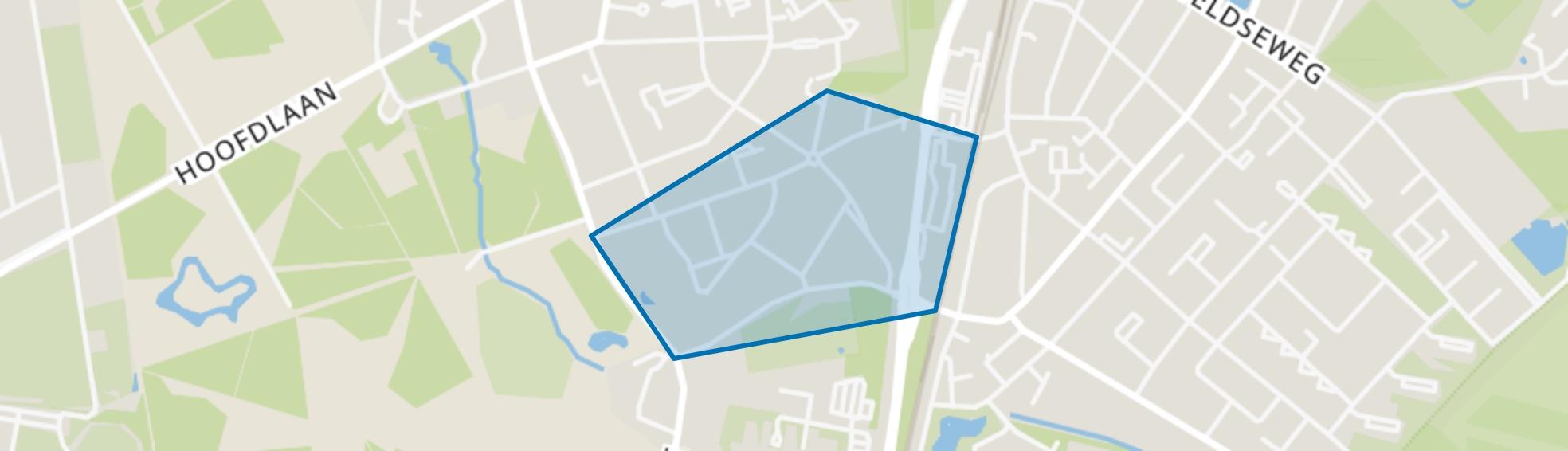 Bomenbuurt, Assen map