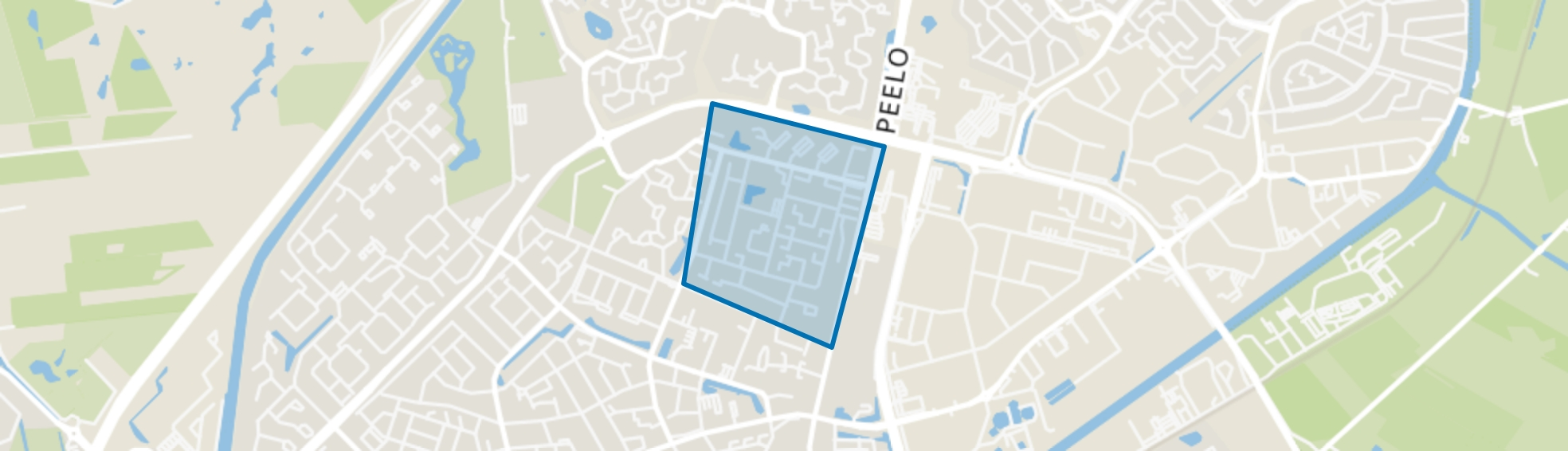 Componistenbuurt Oost, Assen map