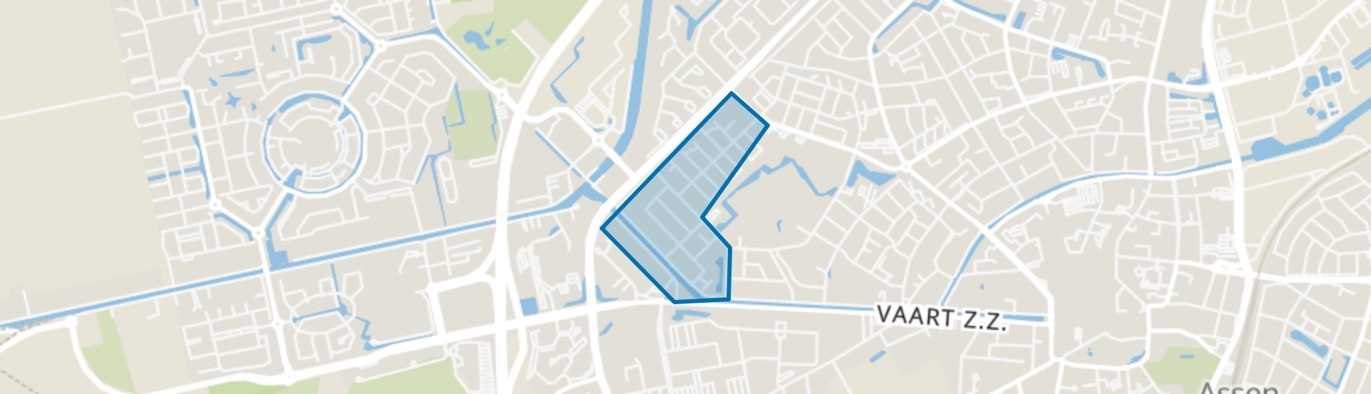 De Lariks West, Assen map