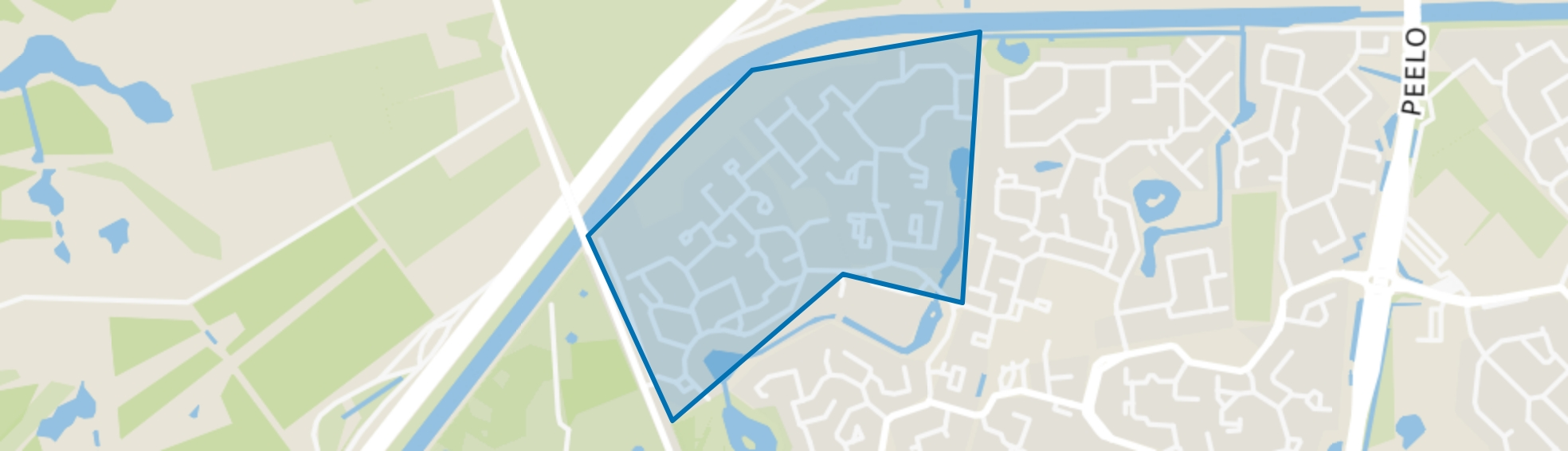 De Velden/De Stukken, Assen map