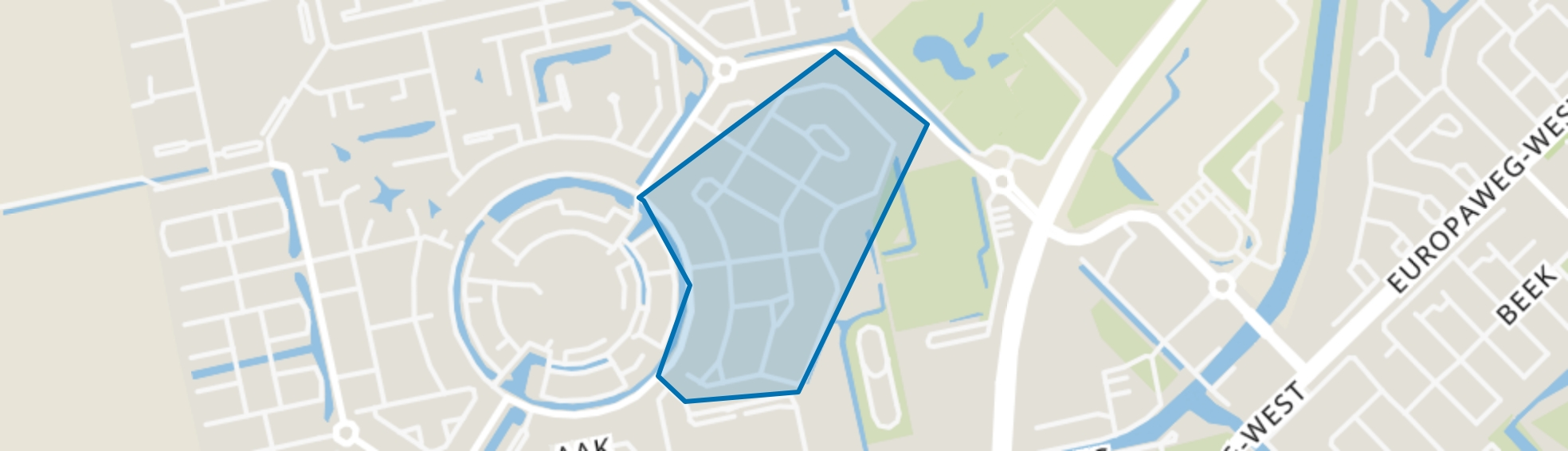 Kloosterlanen, Assen map