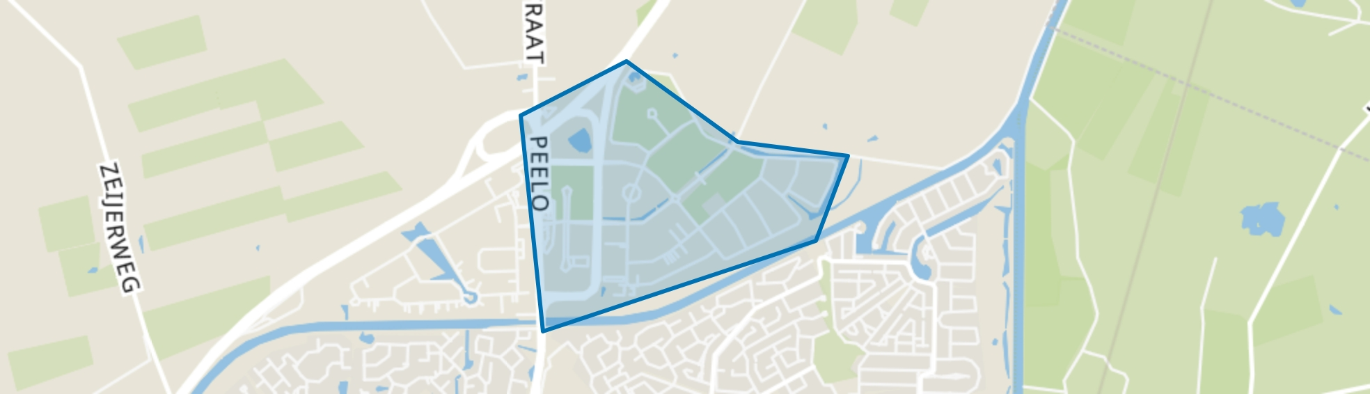 Messchenveld, Assen map