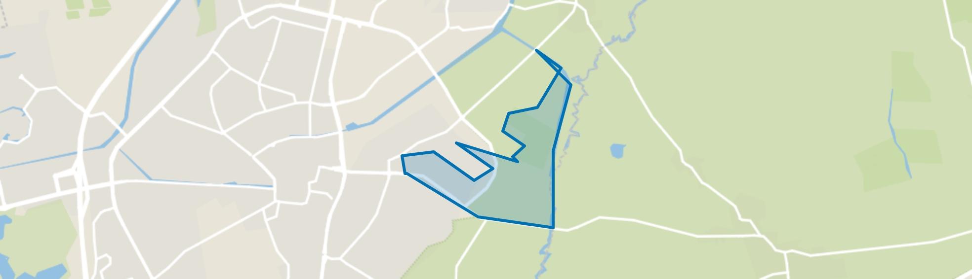 Natuurgebied Amelte, Assen map