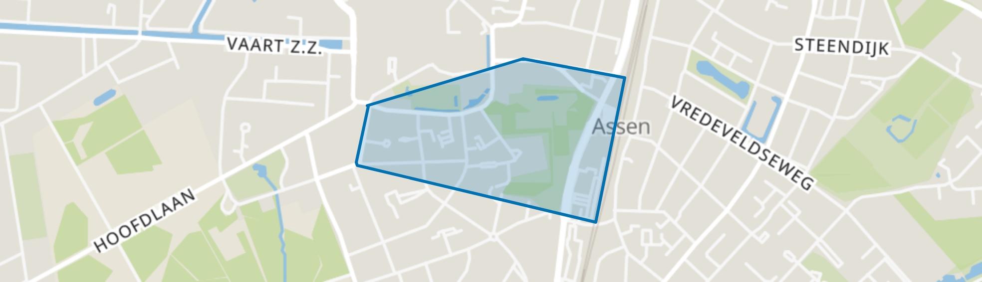 Overcingel, Assen map