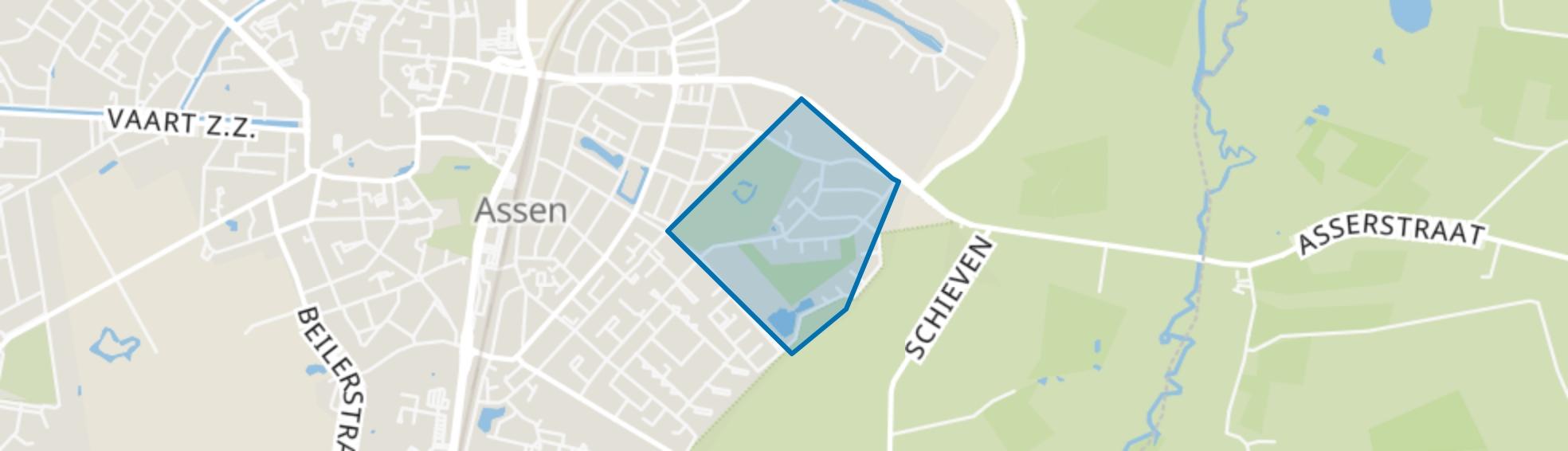 Sluisdennen, Assen map
