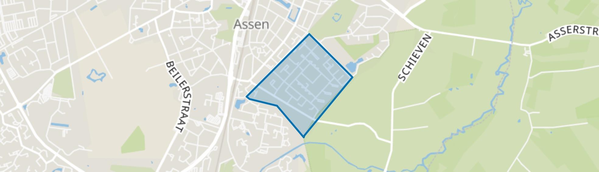 Vredeveld Zuid, Assen map
