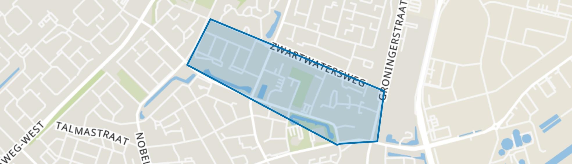 Zwarte Water, Assen map