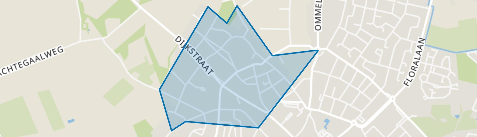 Centrum west, Asten map