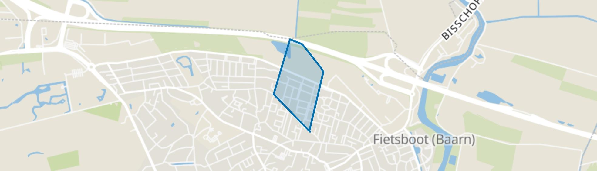 Staatsliedenwijk, Baarn map