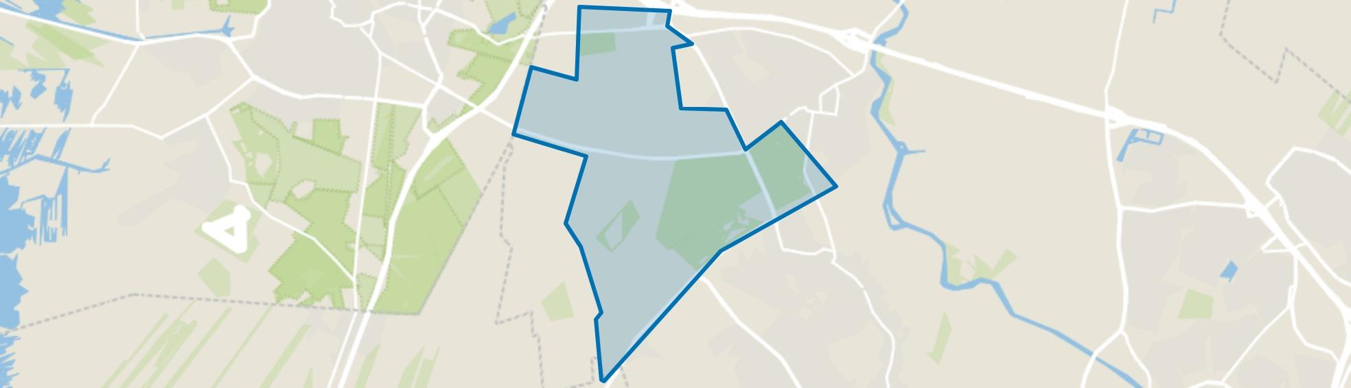 Verspreide huizen Baarn, Baarn map