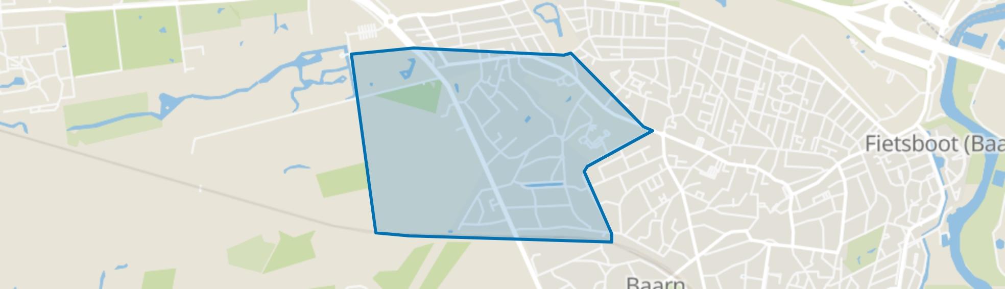 Wilhelminapark, Baarn map