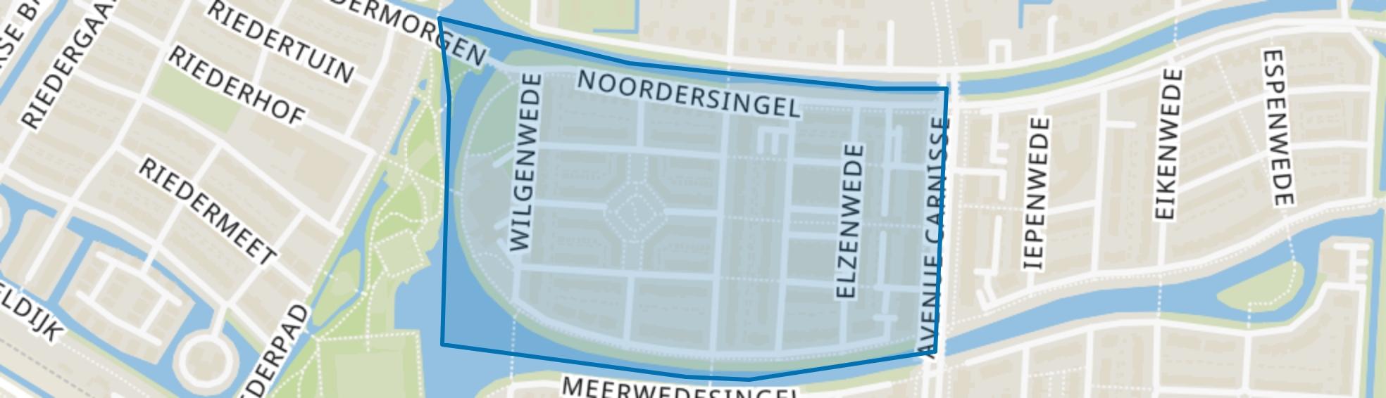 Meerwede Noordwest, Barendrecht map