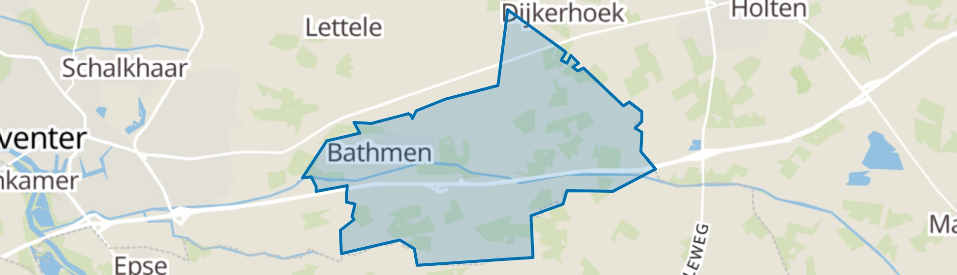 Bathmen map