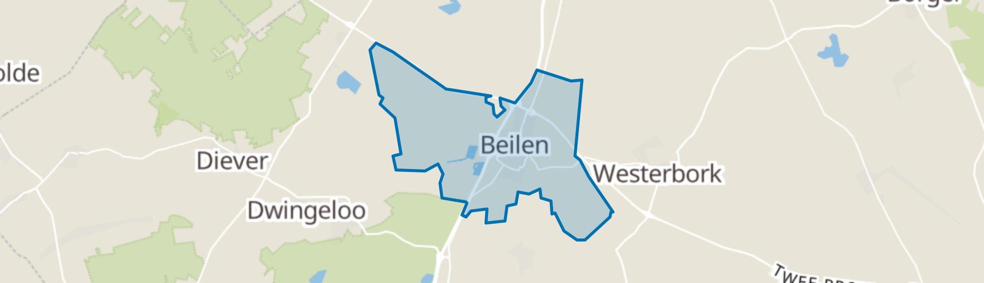 Beilen map