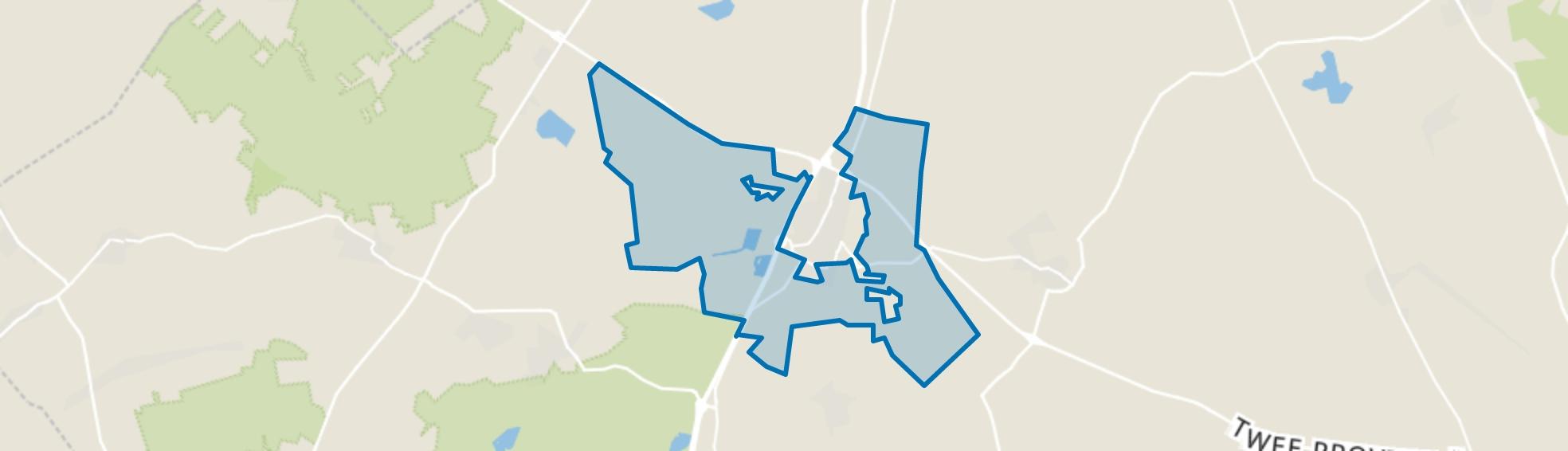 Verspreide huizen Beilen, Beilen map