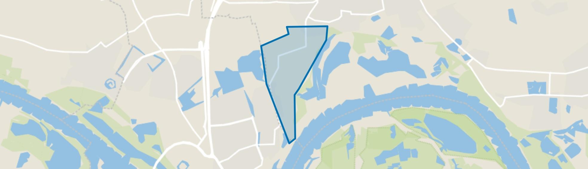 Verspreide huizen Bemmel-Lent, Bemmel map