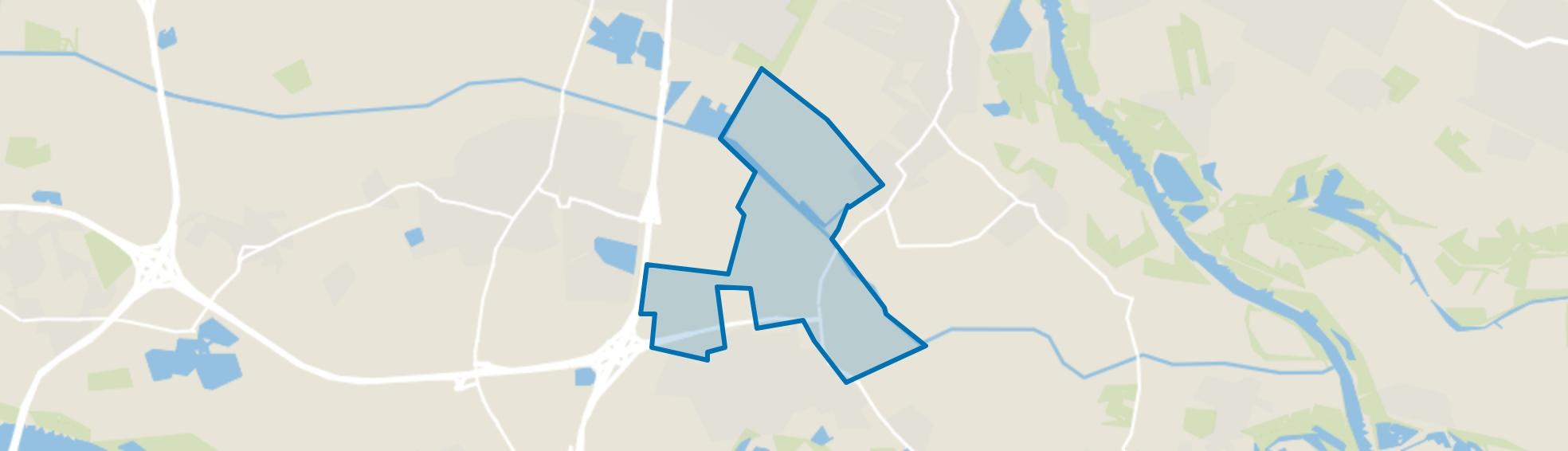 Verspreide huizen Bemmel, Bemmel map