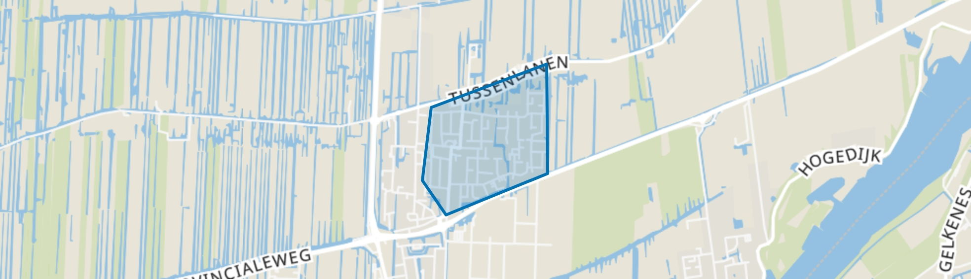 Uitbreiding Dorp, Bergambacht map