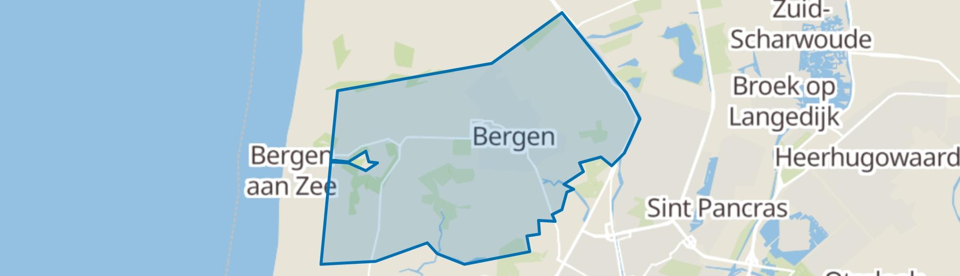 Bergen (NH) map